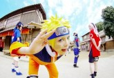 Naruto cosplay Team 7 sakura sasuke smile anime online manga tv streaming legal gratuit